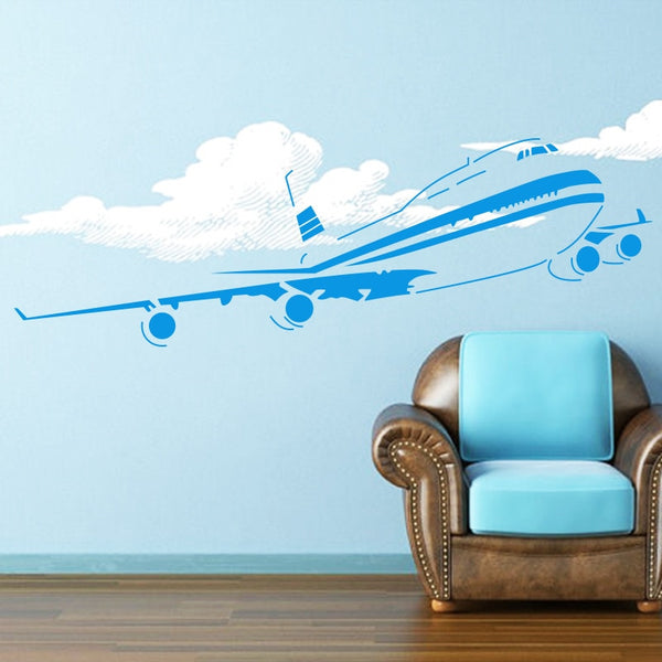 Art decor hot selling environmental removable home decor Big air Plane wall sticker for living room or bedroom