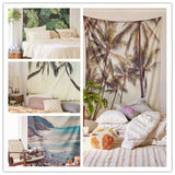 Scenic Wall Hanging India Mandala Blanket Coconut Tree Tapestry Travel Summer Beach Mat Yoga Tippet Mat Cappa
