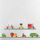 Cartoon Car wall stickers For Kids Rooms Children Bedroom kindergarten Wall decals Home Decor Boy's Room Decor