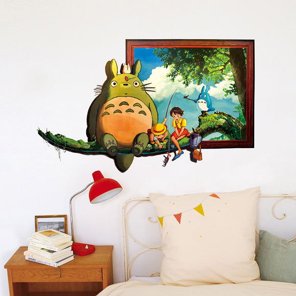 Cartoon Hayao Figure Totoro Series Cat Wall Stickers