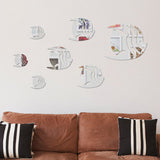 Creative Sea Fish Bubble Wall Sticker 3D Mirror Effect Stickers Mural DIY Removable Decal For Kids Room Bathroom decoration