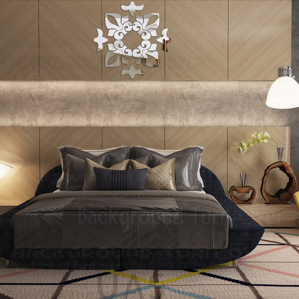Creative abstract modern style acrylic mirror wall stickers on the ceiling geometrical design 3d decorative wall mirrors R048