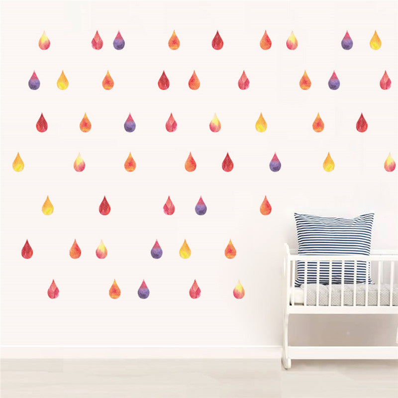 Raindrop Wall Sticker Water Droplets Baby Bedroom Home Decor ...