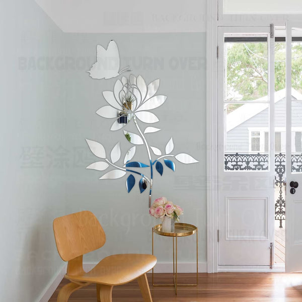 Spring nature single plant flower sakura wall stickers for sofa wall corner home decor R069