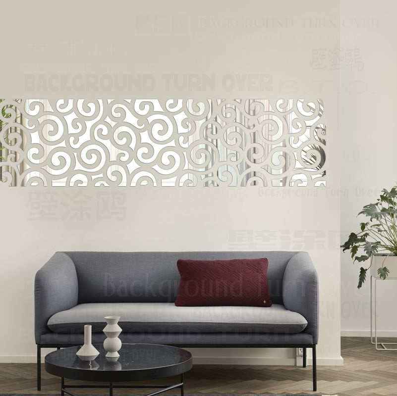 Clouds style mirror wall stickers decorative wall mirrors ...