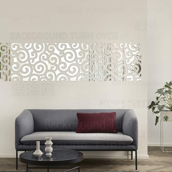 Clouds style mirror wall stickers decorative wall mirrors sticker decal mural