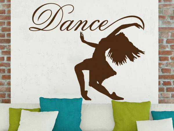 Elegant Ballerina Wall Decal Quote Dance Girl Silhouette Stickers Dance Studio Applicable Removable Gymnastics Art Mural