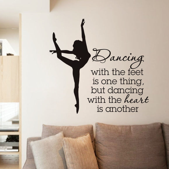 Elegant Ballet Dancer Wall Stickers For Dancer School Girls Bedroom Decor Quotes Dancing Wall Decal Living Room Decorative