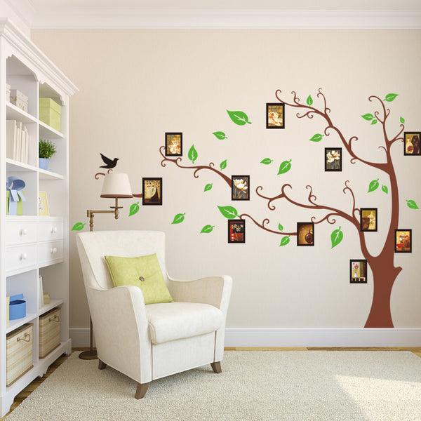 Family Tree Photo Frame Tree Bird Wall Sticker Living Room Family Room Bedroom Wall Decal