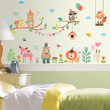 Forest Zoo Jungle Wild Animals Wall Sticker Decoration Wall Decal
