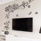 Flower Vine Wall Sticker Wall Art TV Background Wall Stickers Home Decor