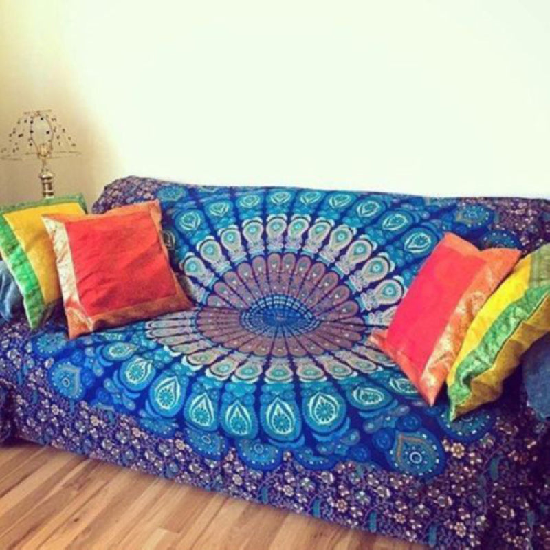 Mandala Indian Hippie Tapestry Wall Hanging Beach Throw Towel Mat Blanket Yoga Mat
