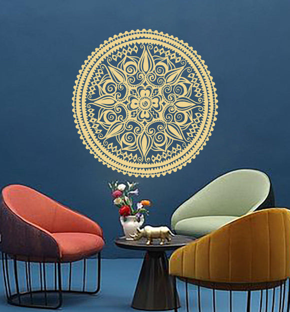 Mandala Flower Wall Stickers Home Decor Yoga Studio Bohemian Style Wall Decal