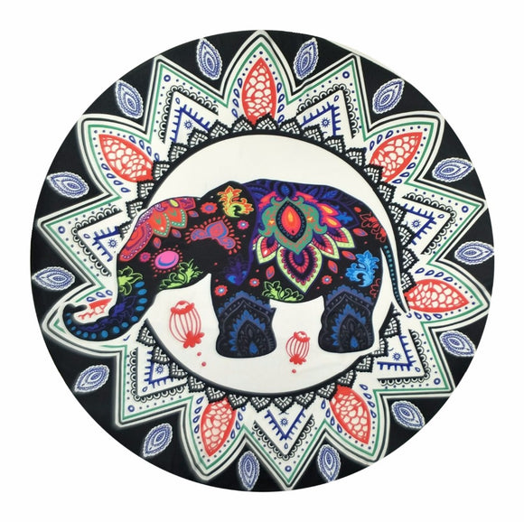 India Elephant Tapestry Peacock Printed Mandala Wall Hanging Bohemia Beach Mat Tippet Cappa Yoga Mat Blanket Bikini Cover Up