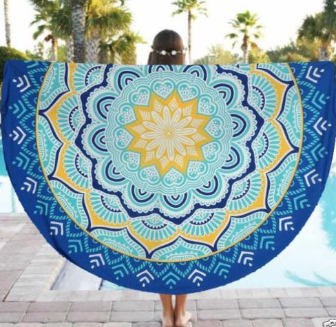 Indian Mandala Tapestry Hippie Wall Hanging Lotus Flower Digital Printed Bohemia Bedspread Beach Mat Yoga Mat Blanket