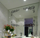 Mirror Decorative Corner Line Wall Sticker Fashion Window Kitchen Cabinet Showcase European Style