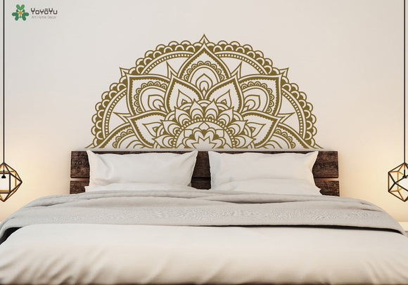 Mandala Flower Pattern Wall Stickers For Bedroom Headboard Wall Decal Moraccan Style Art Mural