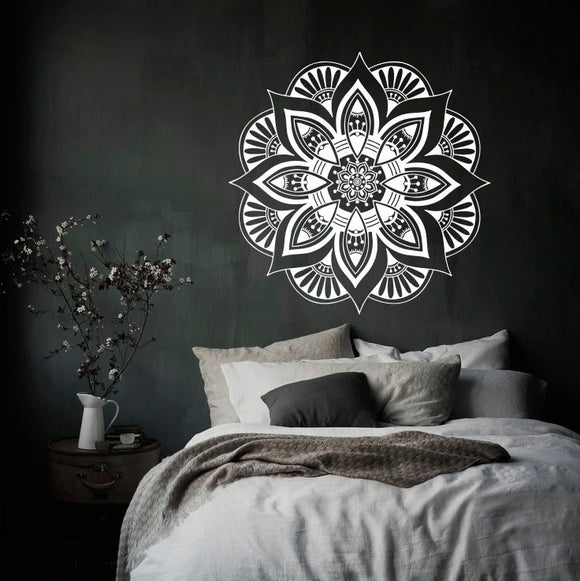 Mandala Moroccan Ornament Flower Wall Sticker Indian Circle Bohemian Dorm Home Decor Murals Vinyl Sticker