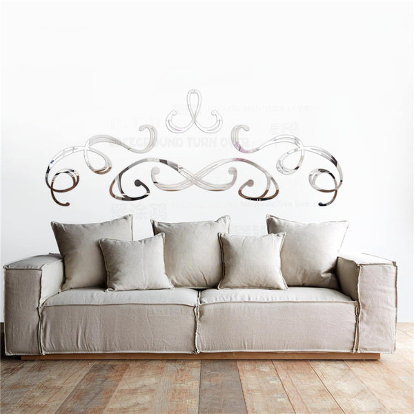 Retro Palace Decorative 3d Acrylic Mirror Wall Stickers Home Door Store Living Room Bedroom Decor Headboard Room Decoration R146