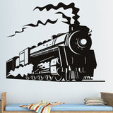 Steam Train Wall Sticker Home Decor Removable Living Room Children Kids Room Decoration Nursery Wall Decals