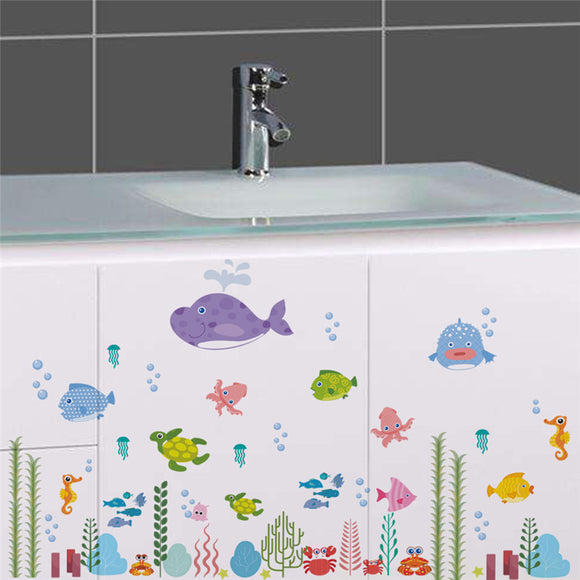 Underwater World Fish Bubble Starfish Star NEMO Wall Sticker Cartoon Wall Decals