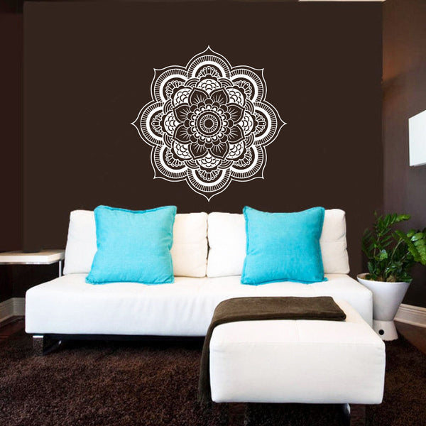 Mandala Flower Patterned Art Designed Wall Decals Home Room Decor Sticker