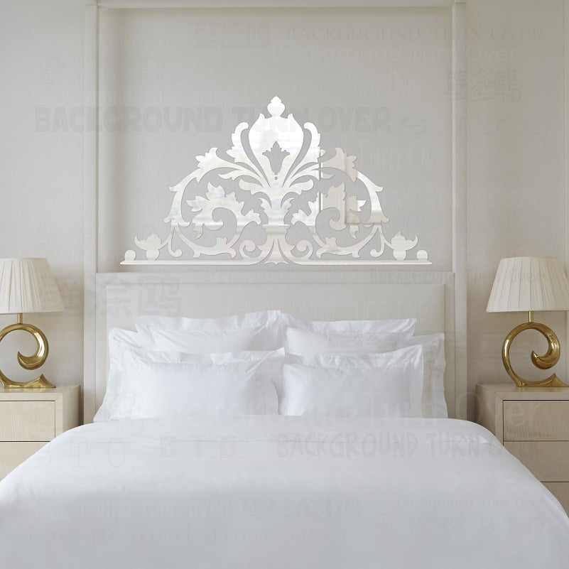 Vintage European Palace Style 3D Acrylic Mirror Wall Stickers Bedroom  Headboard Decoration decorative wall ornaments mural R103