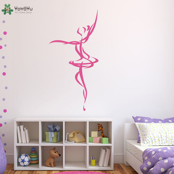 Wall Decal Ballet Dancer Wall Stickers For Girls Bedroom Nursery Room Decor Interior Elegant Ballerina Home Mural