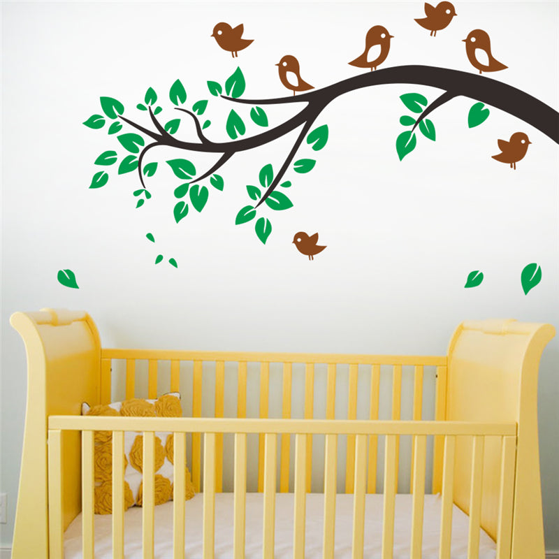 Birds tree animals wall art decals for living room bedroom home ...