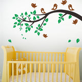Birds tree animals wall art decals for living room bedroom home decoration stickers