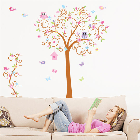 Birds tree pvc wall stickers for living room bedroom wall art decor stickers diy posters