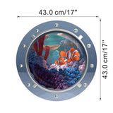 Fantastic shark submarine portholes wall stickers room decoration coral shark fish scuttle decals