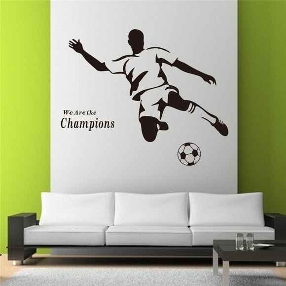 Football we are the champion inspirational letters vinyl wall art decals living room indoor decor diy stickers black