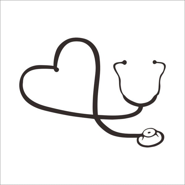Love stethoscope computer laptop vinyl skin art decals