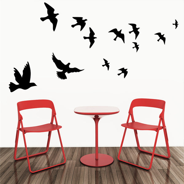 Flying birds wall decals for living room bedroom home decoration vinyl removable animals stickers art