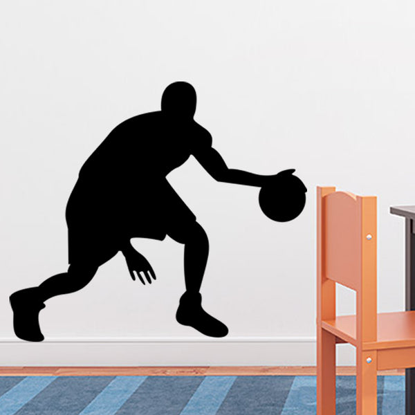 Basketball vinyl wall stickers for kids room wall art decor diy removeable stickers black