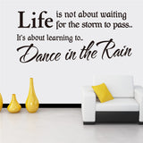 Life inspirational quotes wall stickers home decorations decals vinyl art room mural posters