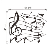 Musical notes vinyl wall decals for living room bedroom wall art decor vinyl stickers black