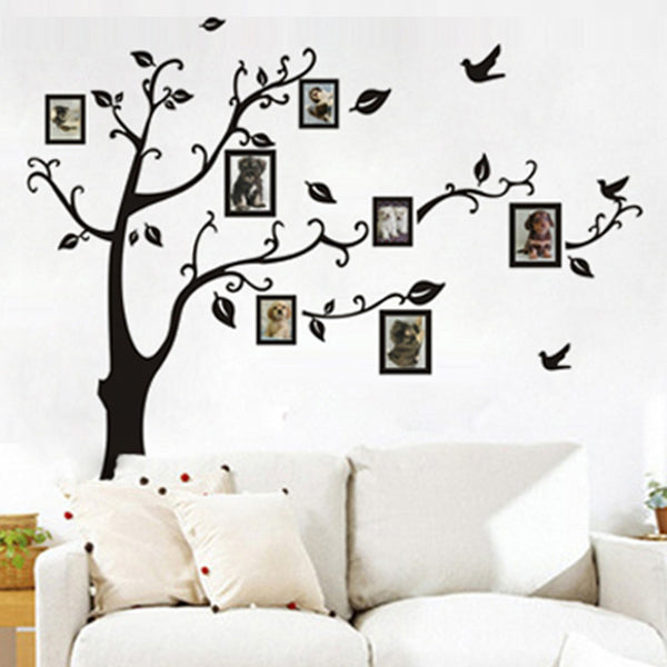 Photo tree frame family forever memory tree wall decal decorative removable pvc wall sticker