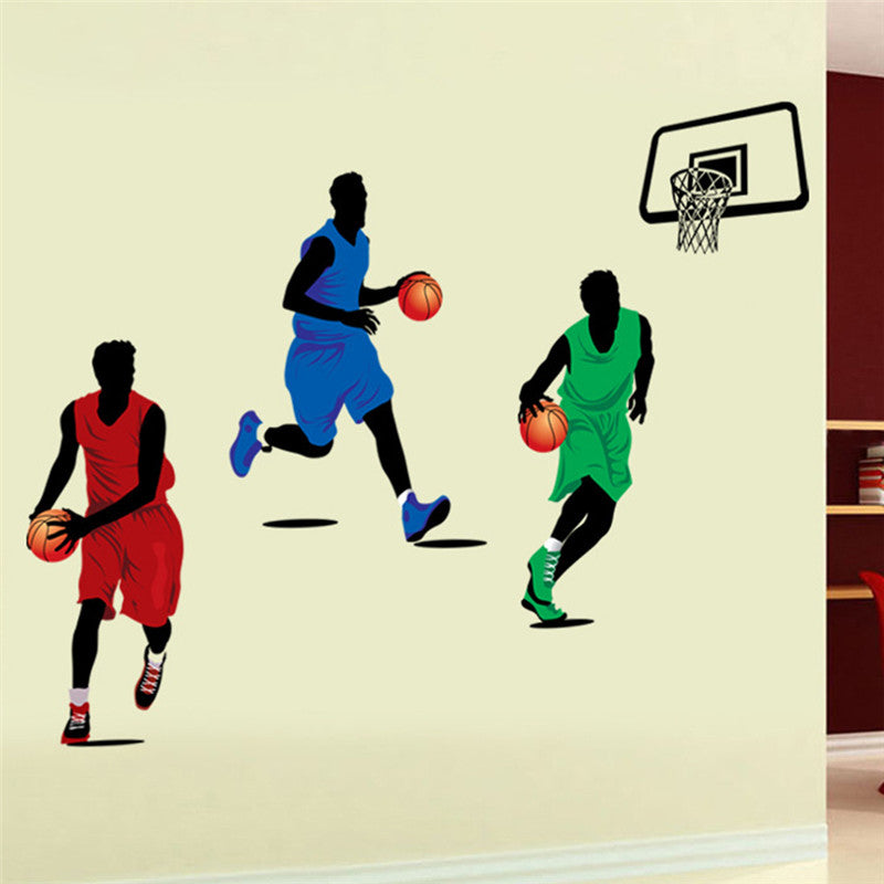 Basketball wall stickers for classroom students room decorations sport decals wall art