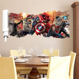 Super hero wall decal avengers movie character stickers for kids bedroom home decoration mural art poster