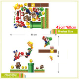 Super mario wall stickers for kids room pvc wall decal diy game wall art bedroom home decor