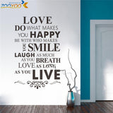 We are family wall art home decoration creative quote wall decals diy removable vinyl wall stickers