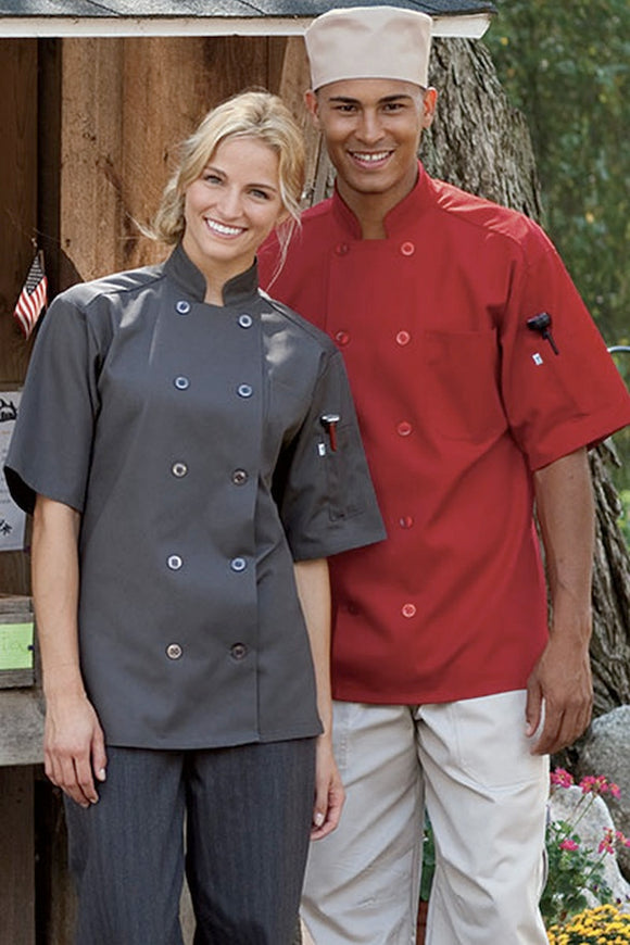 Short Sleeve Chef Coat -