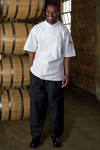 "Classic Chef Pant w/zipper and 2"" elastic waist"