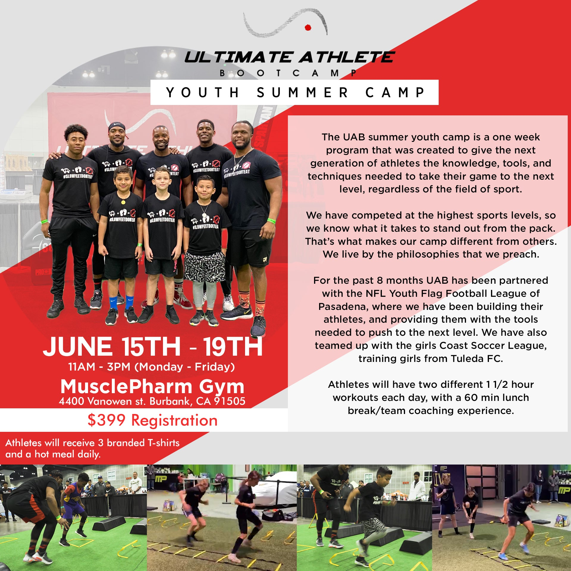 UAB Youth Summer Camp |  Los Angeles June 15th - 19th 2020