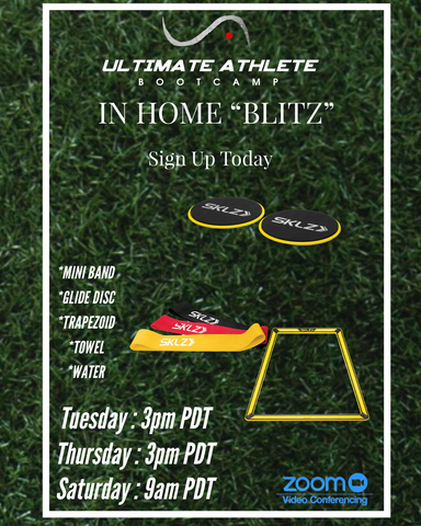 Ultimate Athlete Bootcamp In Home Virtual Training & Classes