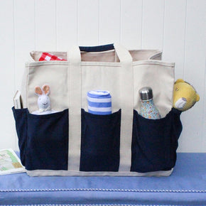 Large Grocery Tote - Outside Pockets - ShoreBags