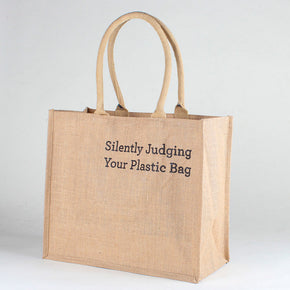 Jute Market Silently Judging Your Plastic Bag