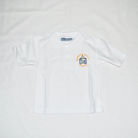 Burbage Infants Polo Shirt (White) - Swifts Uniforms